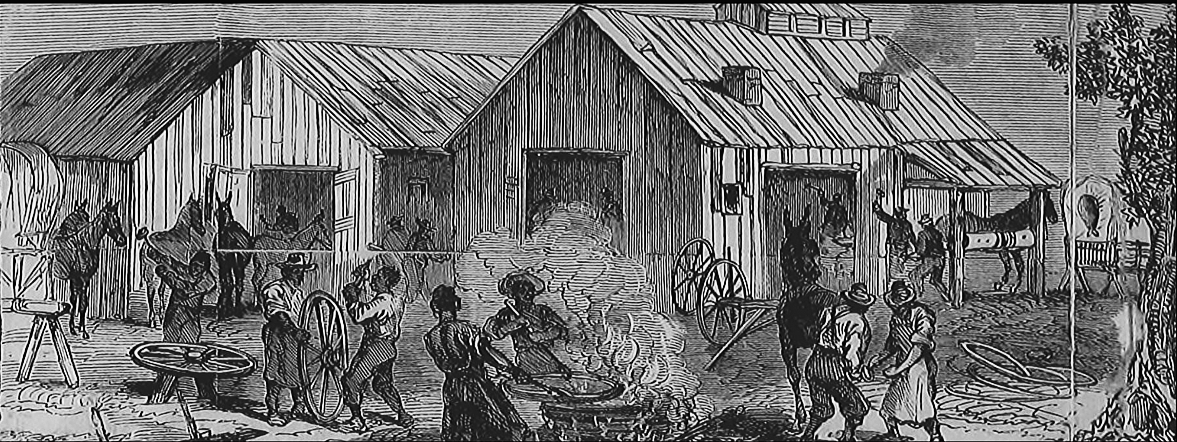 illustrated newspaper image depicting an african american community
